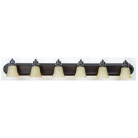 Craftmade 11748-KIT-OB6 Arch Arm 6 Light 48 inch Oiled Bronze Vanity Wall Light