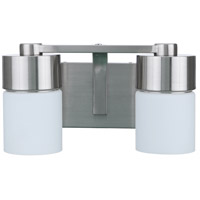 Craftmade 12314BNK2 Neighborhood District 2 Light 14 inch Brushed Polished Nickel Vanity Light Wall Light