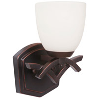Viewpoint 1 Light 8 inch Oil Bronze Gilded Wall Sconce Wall Light in Oiled Bronze Gilded, White Frosted Glass, Jeremiah