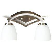 Craftmade 14016BNK2 Viewpoint 2 Light 16 inch Brushed Satin Nickel Vanity Light Wall Light in Brushed Nickel, Cased Frost White Glass