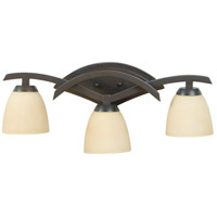 Jeremiah by Craftmade Viewpoint 3 Light Vanity Light in Oiled Bronze Gilded 14024OBG3