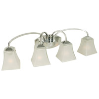 Halstead 4 Light 29 inch Chrome Vanity Light Wall Light in Frosted