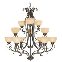 Jeremiah by Craftmade Brookfield 12 Light Chandelier in Brownstone 14412-BST