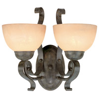 Jeremiah by Craftmade Brookfield 2 Light Wall Sconce in Brownstone 14422-BST