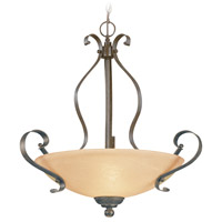 Brookfield 3 Light 22 inch Brownstone Pendant Ceiling Light in Tea-Stained Alabaster Glass