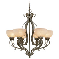 Jeremiah by Craftmade Brookfield 6 Light Chandelier in Brownstone 14426-BST