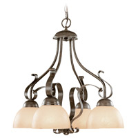 Jeremiah by Craftmade Brookfield Down-Light 4 Light Chandelier in Brownstone 14434-BST