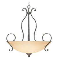 Jeremiah by Craftmade Brookfield Inverted 5 Light Pendant in Brownstone 14445-BST