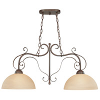 Jeremiah by Craftmade Brookfield 2 Light Island Pendant in Brownstone 14462-BST