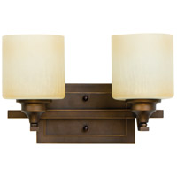 Montreal 2 Light 15 inch Metropolitan Bronze Vanity Light Wall Light in Caramel Speck