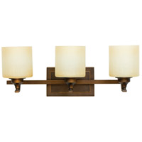 Montreal 3 Light 24 inch Metropolitan Bronze Vanity Light Wall Light in Caramel Speck
