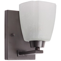 Sumner 1 Light 4 inch Oiled Bronze Wall Sconce Wall Light in Veined Frosted