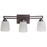 Sumner 3 Light 21 inch Oiled Bronze Vanity Light Wall Light in Veined Frosted