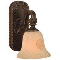 Chaparral 1 Light 7 inch Antique Bronze Wall Sconce Wall Light in Antique Scavo Glass