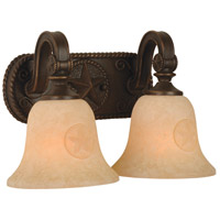 Chaparral 2 Light 16 inch Antique Bronze Vanity Light Wall Light in Antique Scavo Glass