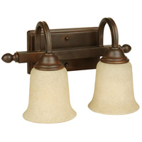 Craftmade 15214AG2 Madison 2 Light 14 inch Aged Bronze Textured Vanity Light Wall Light in Antique Scavo Glass