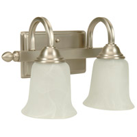 Jeremiah by Craftmade Madison 2 Light Vanity Light in Brushed Nickel 15214BN2