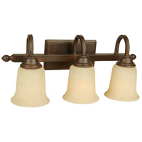 Craftmade 15220AG3 Madison 3 Light 21 inch Aged Bronze Textured Vanity Light Wall Light in Antique Scavo Glass