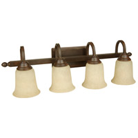 Jeremiah by Craftmade Madison 4 Light Vanity Light in Aged Bronze 15228AG4
