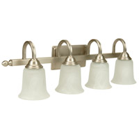 Jeremiah by Craftmade Madison 4 Light Vanity Light in Brushed Nickel 15228BN4