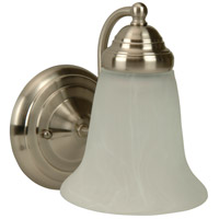 Cathryn 1 Light 6 inch Brushed Satin Nickel Wall Sconce Wall Light in Brushed Nickel, Alabaster Glass