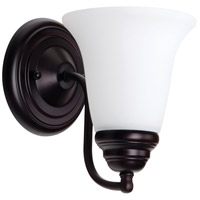 Cathryn 1 Light 6 inch Oiled Bronze Wall Sconce Wall Light in White Frosted Glass
