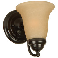 Craftmade 15305OB1 Cathryn 1 Light 6 inch Oiled Bronze Wall Sconce Wall Light in Tea-Stained Glass