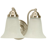 Cathryn 2 Light 11 inch Brushed Nickel Vanity Light Wall Light in Alabaster Glass