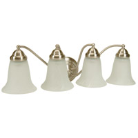 Jeremiah by Craftmade Cathryn 4 Light Vanity Light in Brushed Nickel 15324BN4