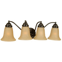 Jeremiah by Craftmade Cathryn 4 Light Vanity Light in Oiled Bronze 15324OB4