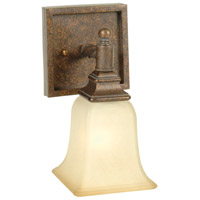 Craftmade 15405PR1 Ryan 1 Light 5 inch Peruvian Bronze Wall Sconce Wall Light in Tea-Stained Glass
