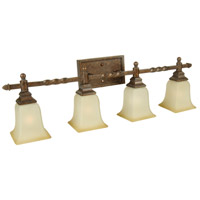 Jeremiah by Craftmade Ryan 4 Light Vanity Light in Peruvian Bronze 15433PR4