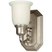 Jeremiah by Craftmade Heritage 1 Light Wall Sconce in Brushed Nickel 15805BN1