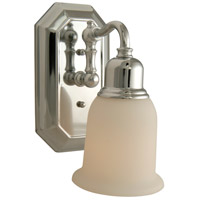 Jeremiah by Craftmade Heritage 1 Light Wall Sconce in Chrome 15805CH1