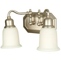 Jeremiah by Craftmade Heritage 2 Light Vanity Light in Brushed Nickel 15813BN2
