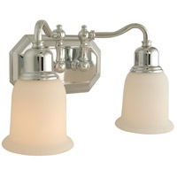 Jeremiah by Craftmade Heritage 2 Light Vanity Light in Chrome 15813CH2