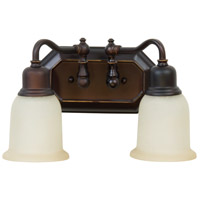 Jeremiah by Craftmade Heritage 2 Light Vanity Light in Oiled Bronze Gilded 15813OBG2