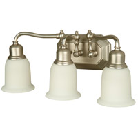 Jeremiah by Craftmade Heritage 3 Light Vanity Light in Brushed Nickel 15819BN3