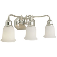 Jeremiah by Craftmade Heritage 3 Light Vanity Light in Chrome 15819CH3