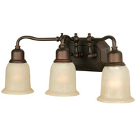 Jeremiah by Craftmade Heritage 3 Light Vanity Light in Oiled Bronze Gilded 15819OBG3