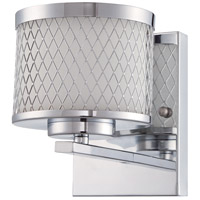 Euclid 1 Light 6 inch Chrome Wall Sconce Wall Light in Opal Frost Glass