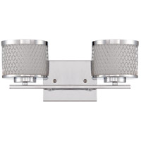 Craftmade 16615CH2 Euclid 2 Light 15 inch Chrome Vanity Light Wall Light in Opal Frost Glass