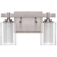 Craftmade 16712BNK2 Celeste 2 Light 12 inch Brushed Polished Nickel Vanity Light Wall Light