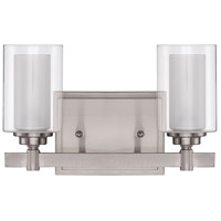 Craftmade 16712BNK2 Celeste 2 Light 12 inch Brushed Polished Nickel Vanity Light Wall Light alternative photo thumbnail