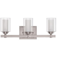 Celeste 3 Light 20 inch Brushed Polished Nickel Vanity Light Wall Light
