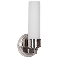 Berlin 1 Light 5 inch Polished Nickel Wall Sconce Wall Light in Opal Glass