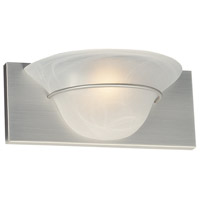 Moonglow 1 Light 5 inch Brushed Satin Nickel Wall Sconce Wall Light in Alabaster Glass