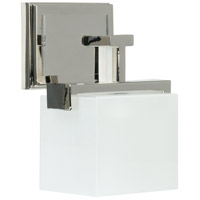 Kade 1 Light 7 inch Polished Nickel Wall Sconce Wall Light in Frost White