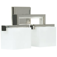 Kade 2 Light 17 inch Polished Nickel Vanity Light Wall Light in Frost White