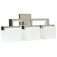 Kade 3 Light 26 inch Polished Nickel Vanity Light Wall Light in Frost White